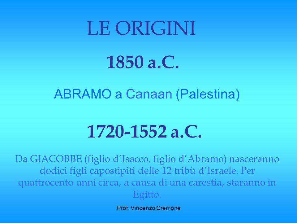 Prof.Vincenzo Cremone TAVOLA CRONOLOGICA DEL POPOLO EBRAICO.