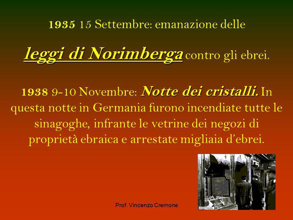 Prof. Vincenzo Cremone 1933Adolf Hitler riceve la carica di cancelliere in Germania