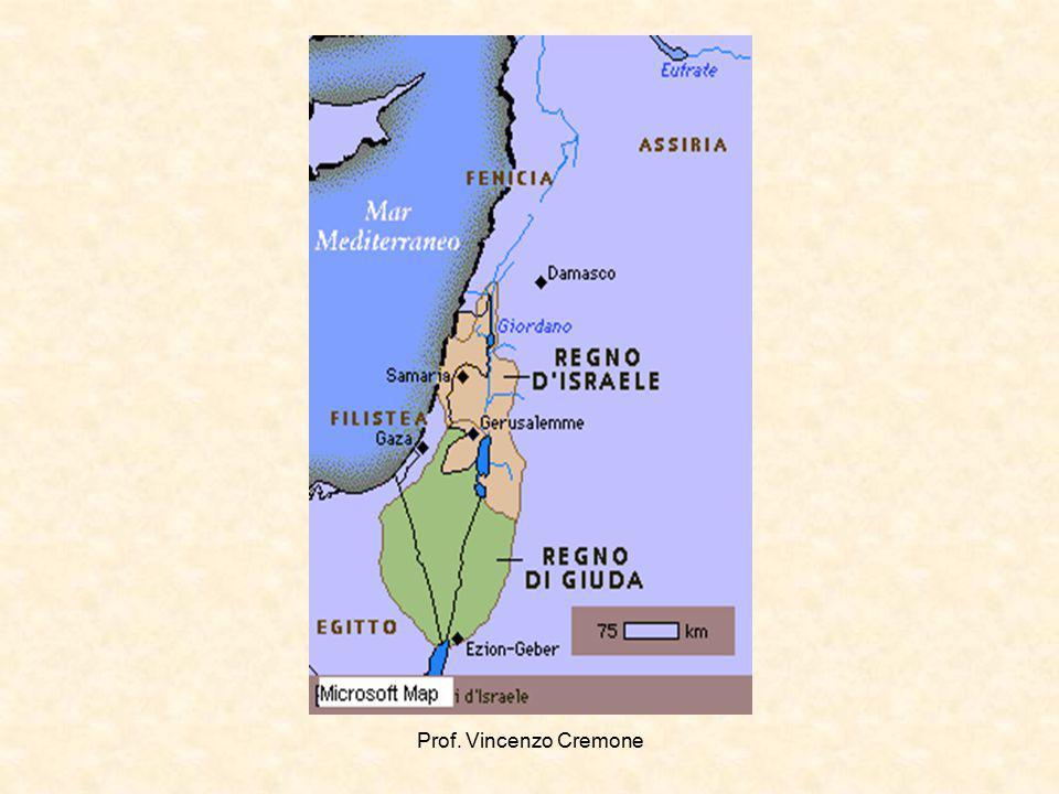 Regno del Sud (detto di Giuda poiché Davide era discendente di questa tribù) con capitale Gerusalemme.