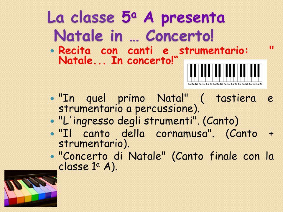 La classe 1 a A Frase di Natale con base musicale. Filastrocca