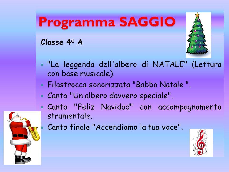 Programma Saggio Classe 2 a A
