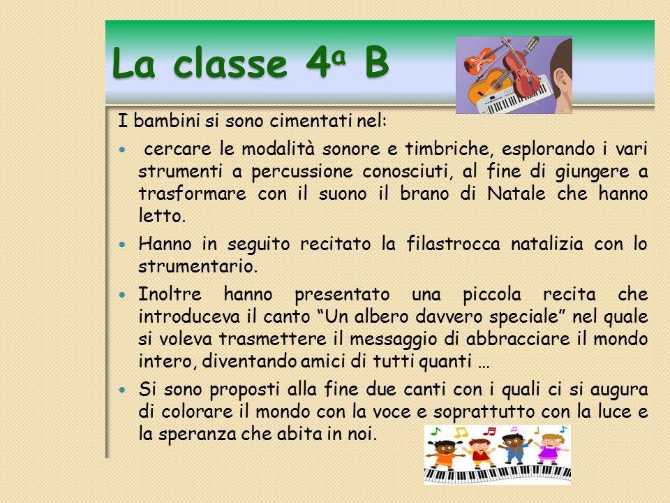 Programma SAGGIO Classe 4 a A La leggenda dell albero di NATALE (Lettura con base musicale).