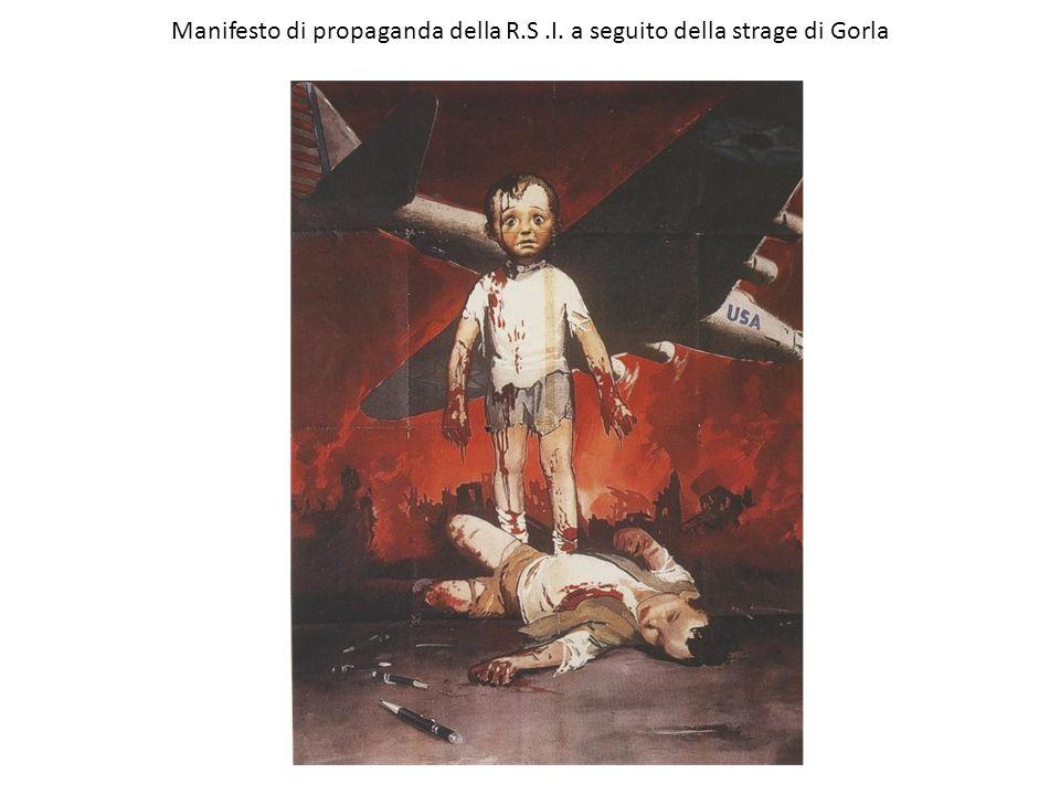 Manifesto di propaganda della R.S.I. a seguito della strage di Gorla