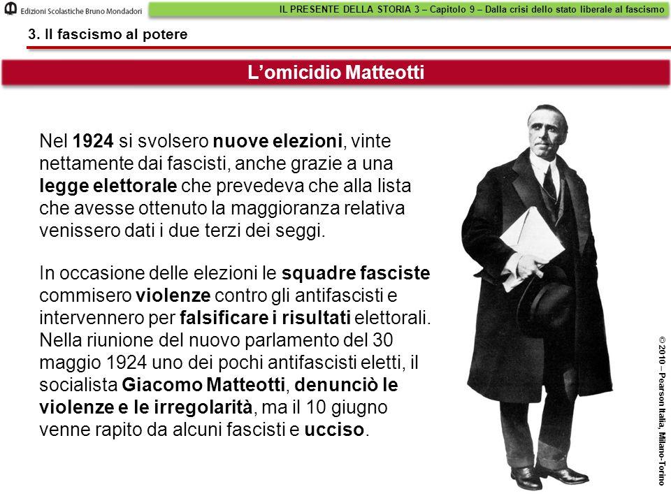 Nel 1924 si svolsero nuove elezioni, vinte nettamente dai fascisti, anche grazie a una legge elettorale che prevedeva che alla lista che avesse ottenu