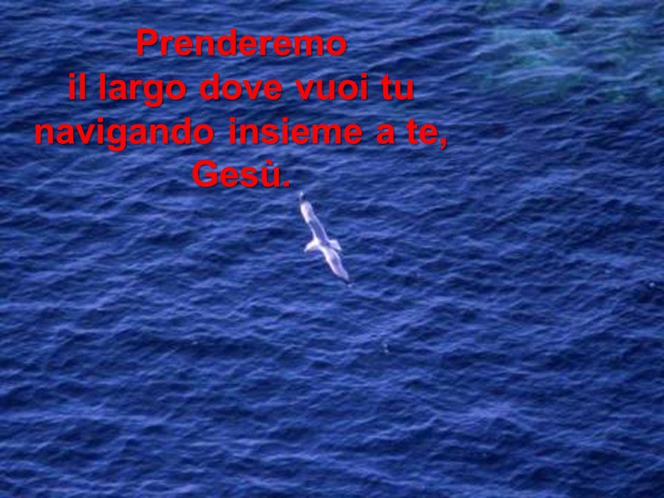 Prenderemo il largo dove vuoi tu navigando insieme a te, Gesù.