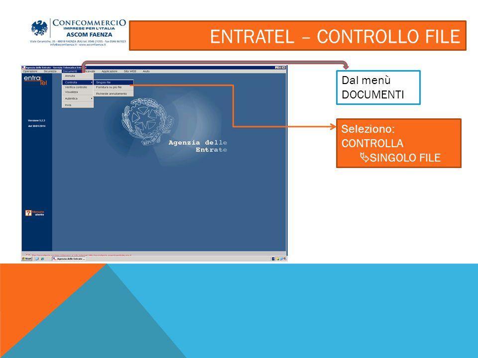 ENTRATEL – CONTROLLO FILE