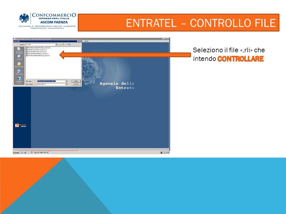 Se si vuole semplicemente controllare il file si seleziona la prima opzione; se si vuole invece preparare il file per l'invio si deve selezionare la seconda opzione