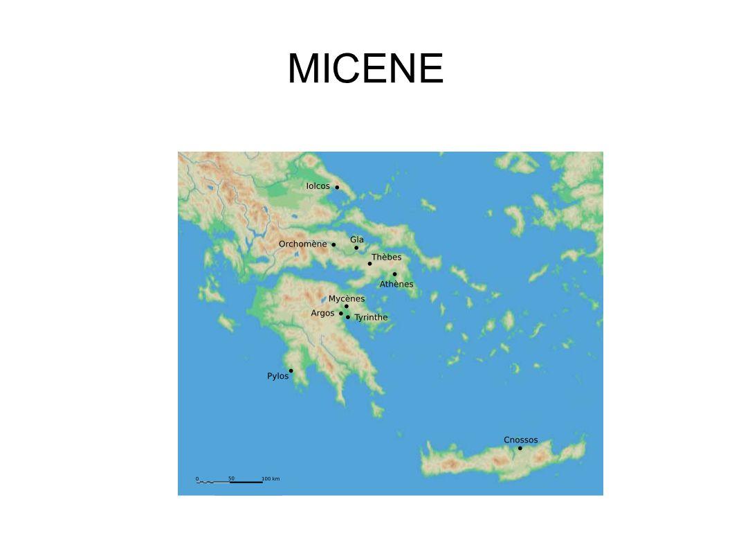 Micene è,a differenza di Creta una città guerriera.