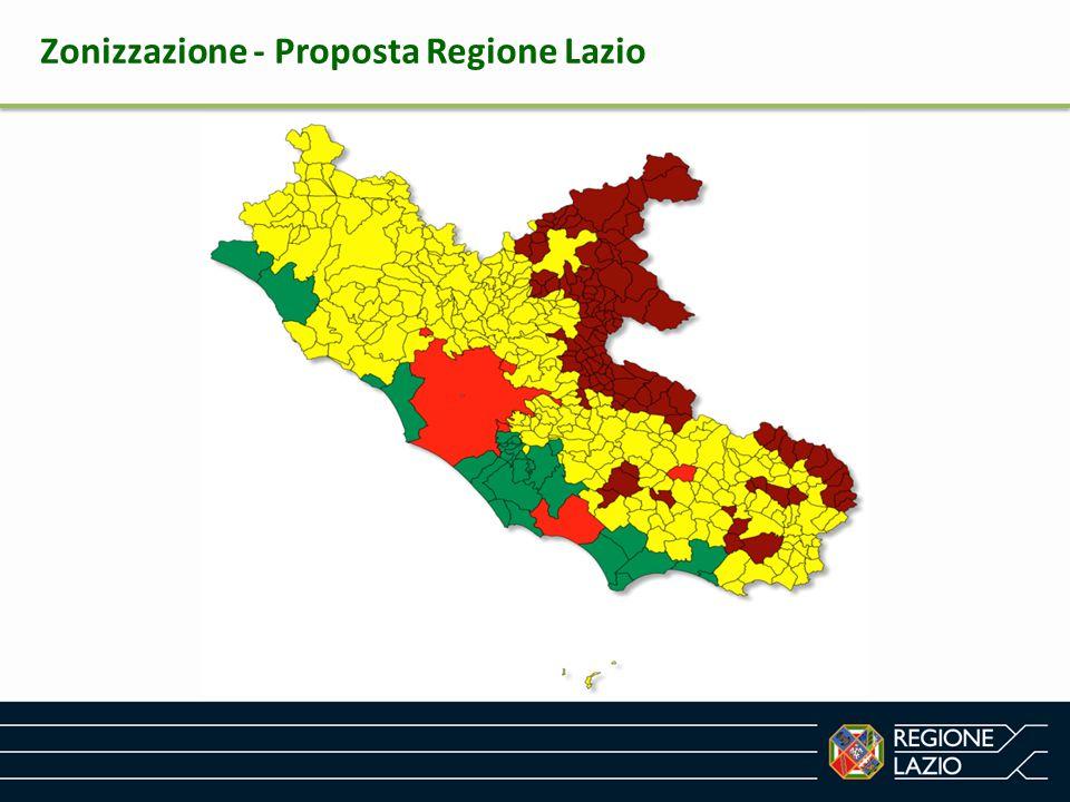 Zonizzazione - Proposta Regione Lazio