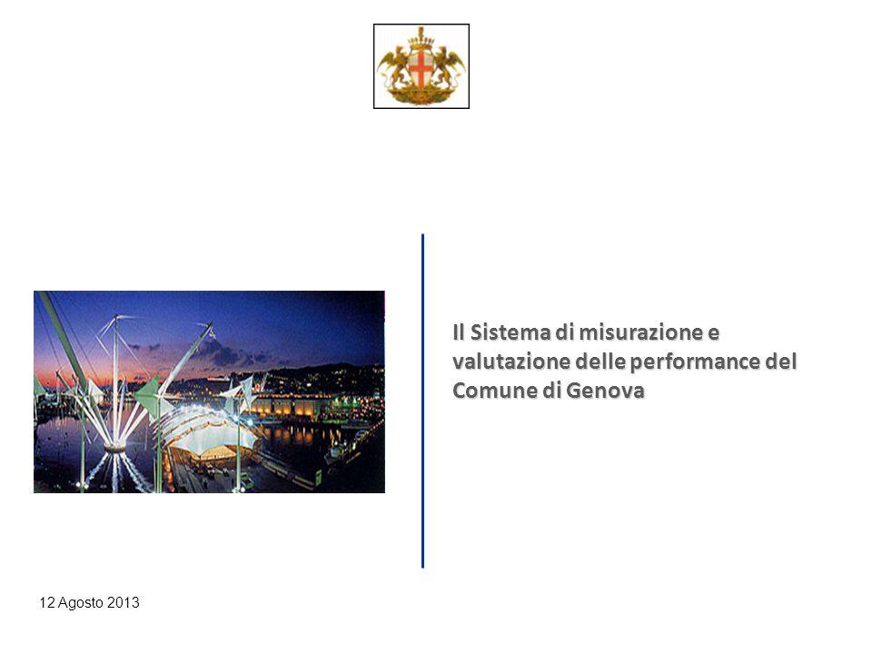 12 Agosto 2013 Il Sistema di misurazione e valutazione delle performance del Comune di Genova