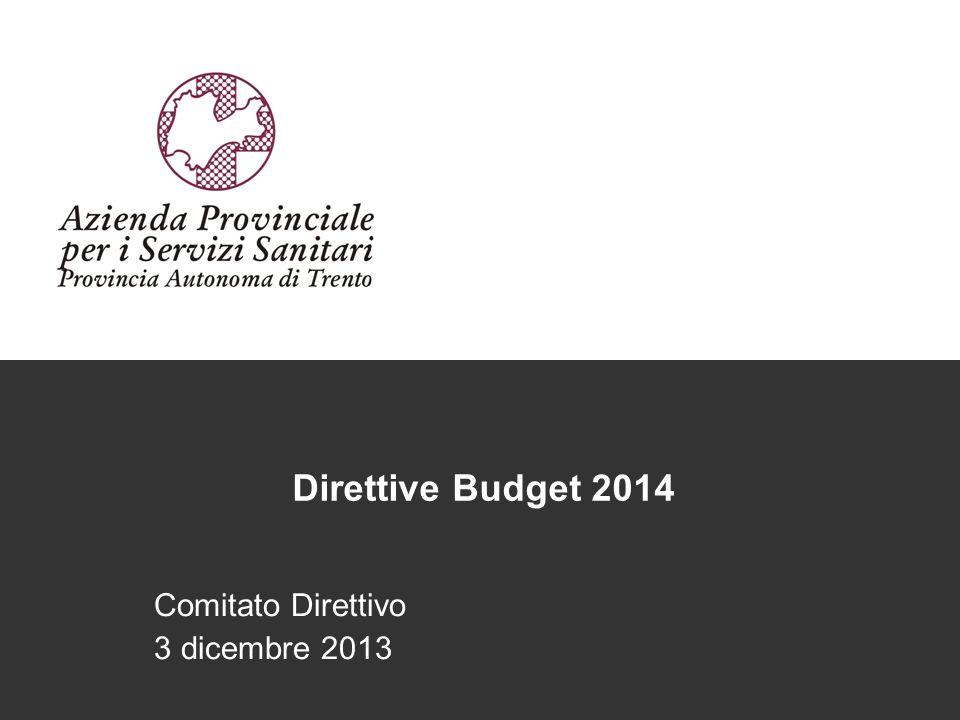 Direttive Budget 2014 Comitato Direttivo 3 dicembre 2013
