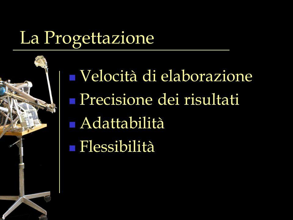 La Progettazione Velocità di elaborazione Precisione dei risultati Adattabilità Flessibilità