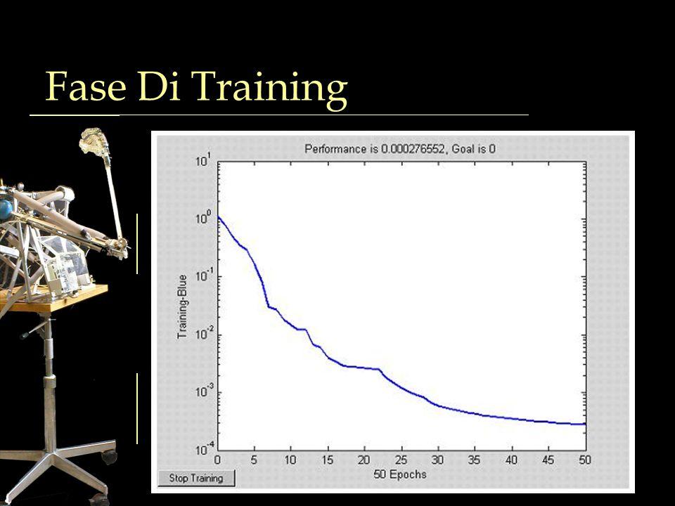 Fase Di Training Generazione dati di training Campionamento 3D uniforme Normalizzazione Addestramento rete neurale Algoritmo back-propagation 1000 epo