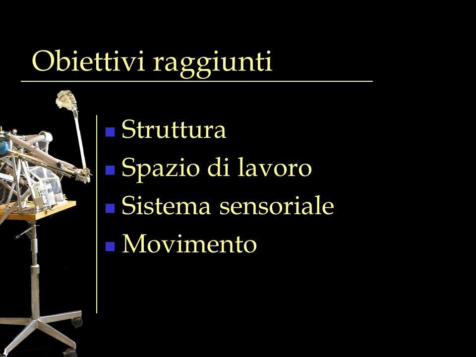 Obiettivi raggiunti Struttura Spazio di lavoro Sistema sensoriale Movimento
