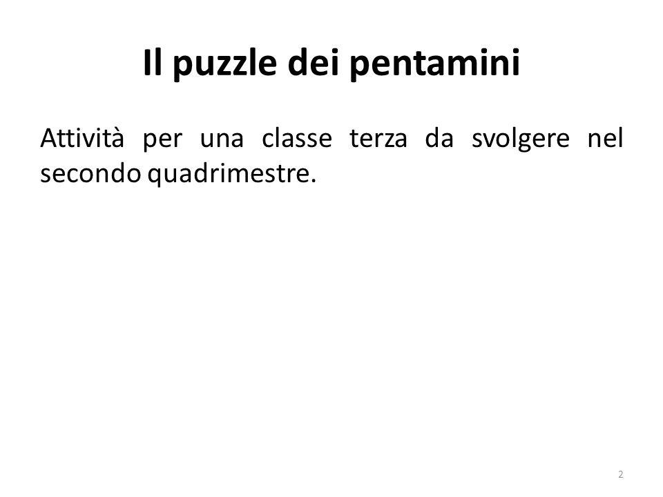 Il puzzle dei pentamini Attività per una classe terza da svolgere nel secondo quadrimestre. 2