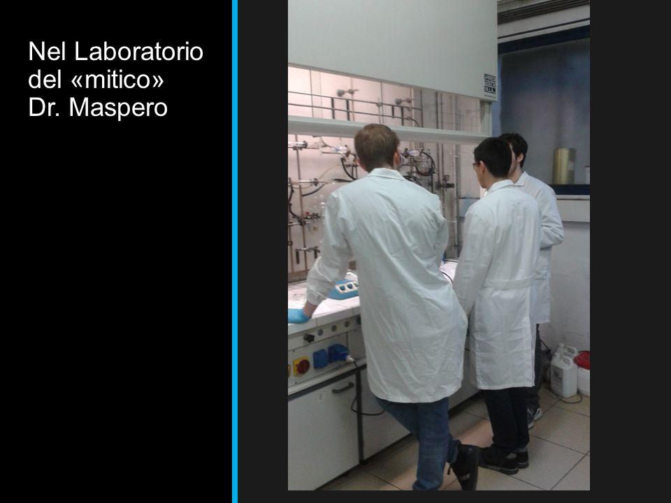 Nel Laboratorio del «mitico» Dr. Maspero