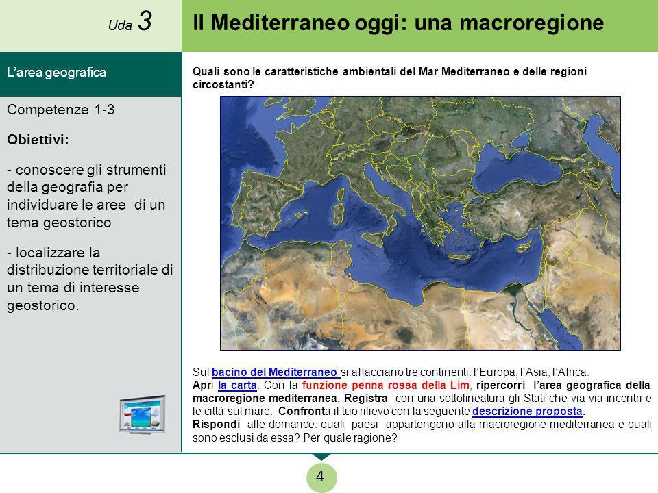 Il Mediterraneo oggi: una macroregione Sul bacino del Mediterraneo si affacciano tre continenti: l'Europa, l'Asia, l'Africa.bacino del Mediterraneo Ap