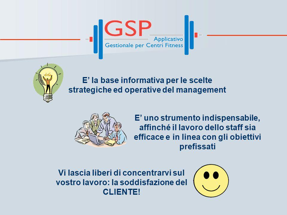 GSP … e le vostre ESIGENZE Il CLIENTE è centrale nella vostra attività? Per GSP lo è la sua scheda.