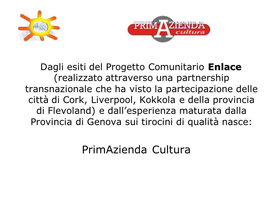 Enlace Dagli esiti del Progetto Comunitario Enlace (realizzato attraverso una partnership transnazionale che ha visto la partecipazione delle città di