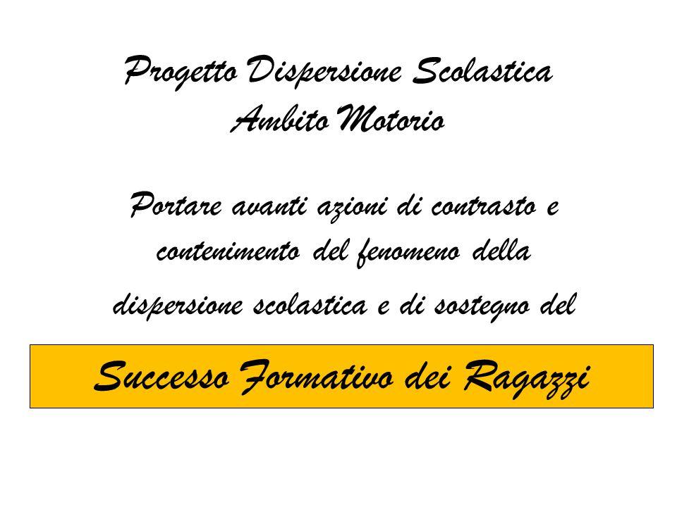 Progetto Dispersione Scolastica Ambito Motorio Portare avanti azioni di contrasto e contenimento del fenomeno della dispersione scolastica e di sosteg