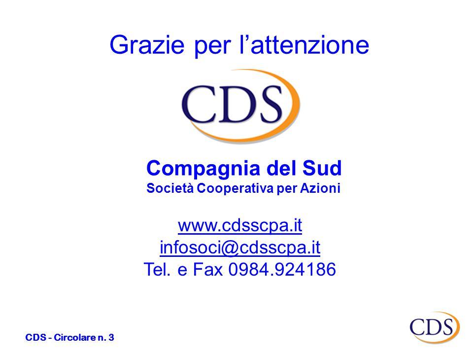 CDS - Circolare n.