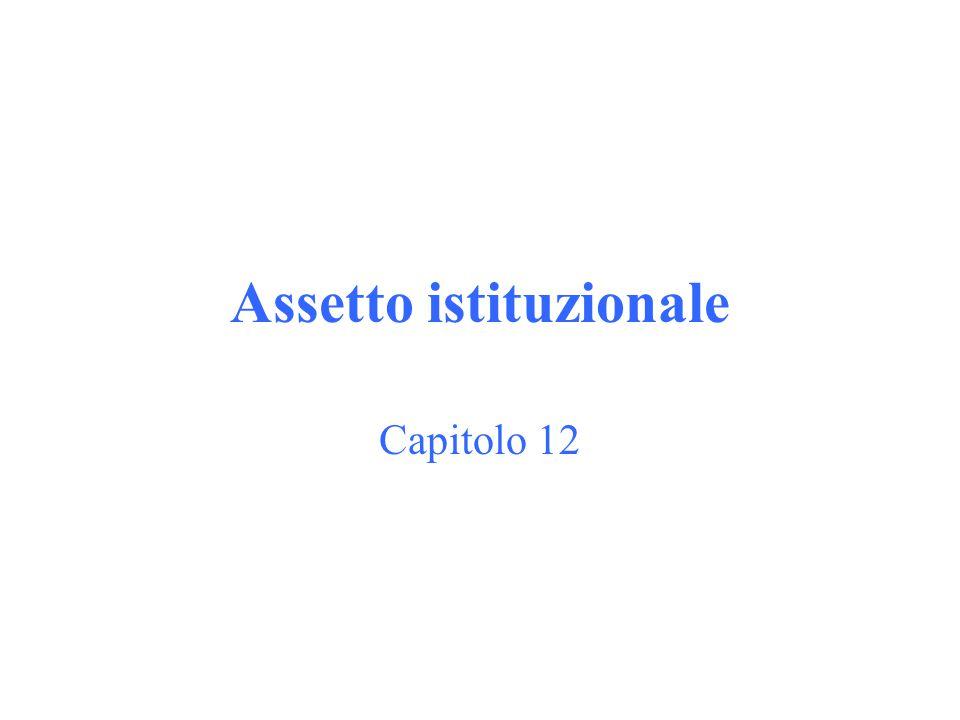 Assetto istituzionale Capitolo 12