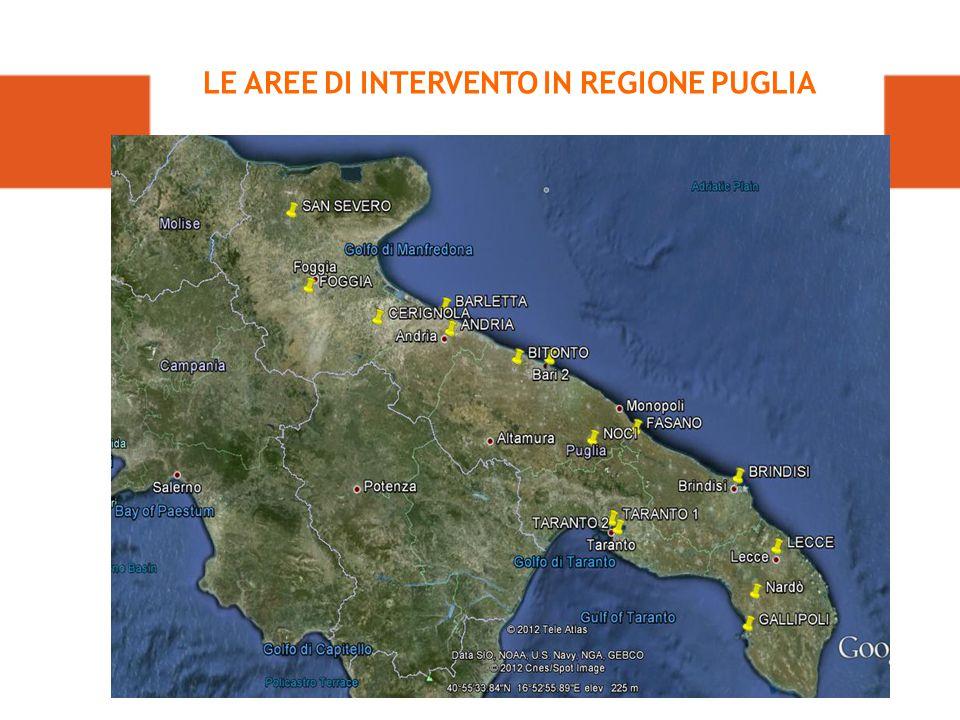 LE AREE DI INTERVENTO IN REGIONE PUGLIA