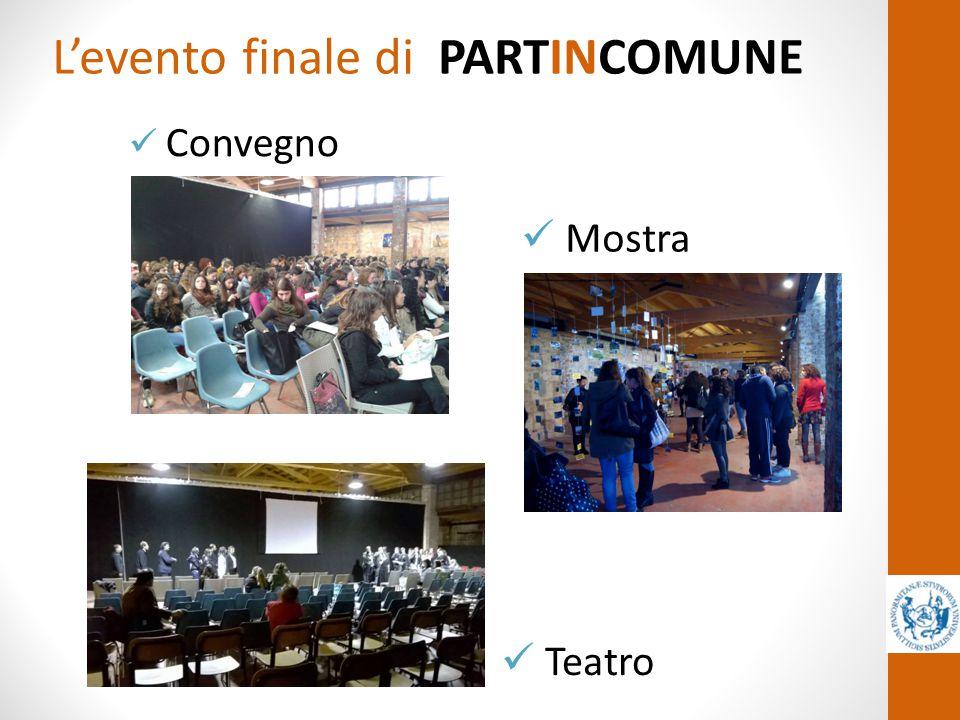 L'evento finale di PARTINCOMUNE Convegno Mostra Teatro