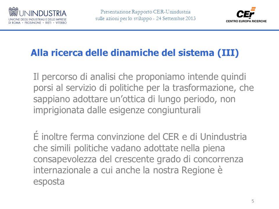 Presentazione Rapporto CER-Unindustria sulle azioni per lo sviluppo - 24 Settembre 2013 16 I dati sono stati rielaborati in un indice di specializzazione per obiettivi, nel confronto fra regioni.