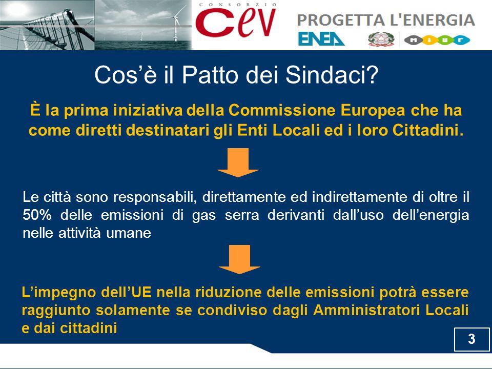 Sottoscrivendo l'iniziativa, l'Ente Locale dimostra il proprio personale impegno nel raggiungimento degli obiettivi che l'Unione Europea si è posta per il 2020 e nell'ottenimento della sostenibilità energetica ed ambientale per l'intero territorio comunale.