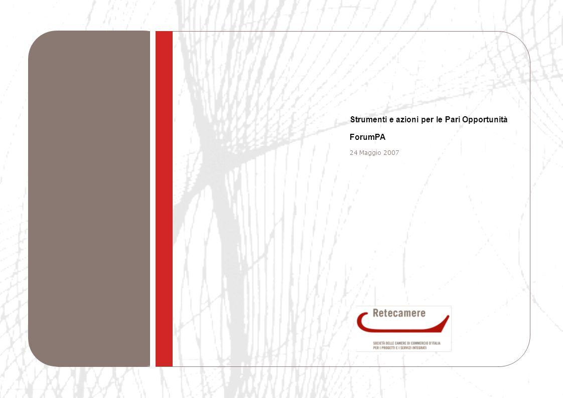 1 Strumenti e azioni per le Pari Opportunità ForumPA 24 Maggio 2007