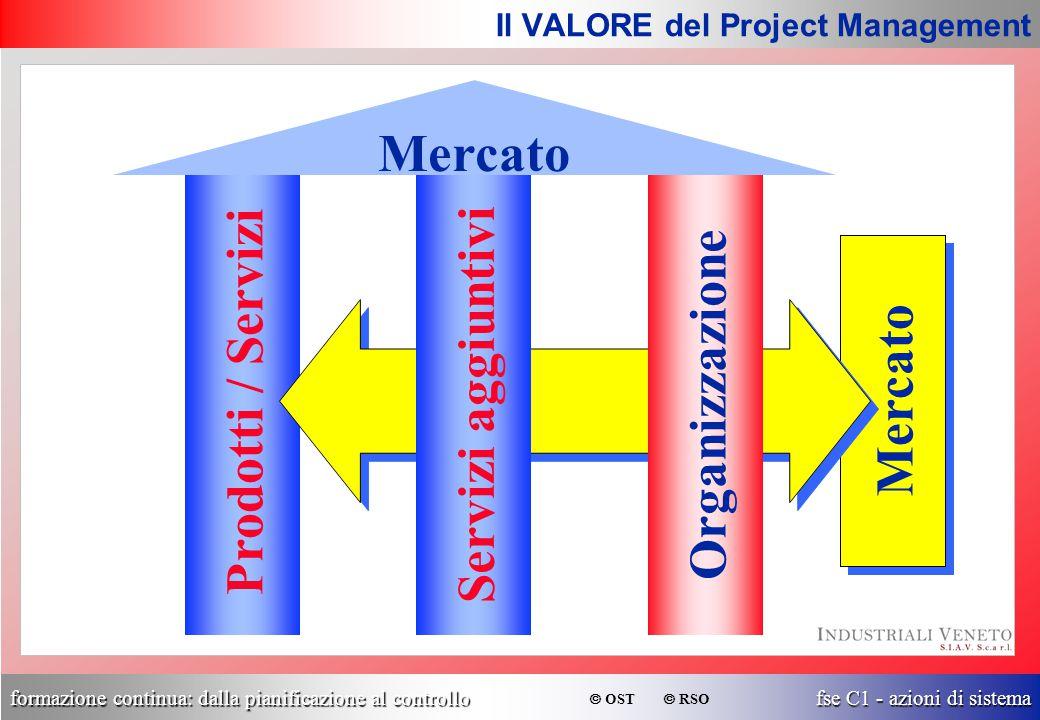 formazione continua: dalla pianificazione al controllo fse C1 - azioni di sistema  OST  RSO Prodotti / Servizi Mercato Servizi aggiuntiviOrganizzazi
