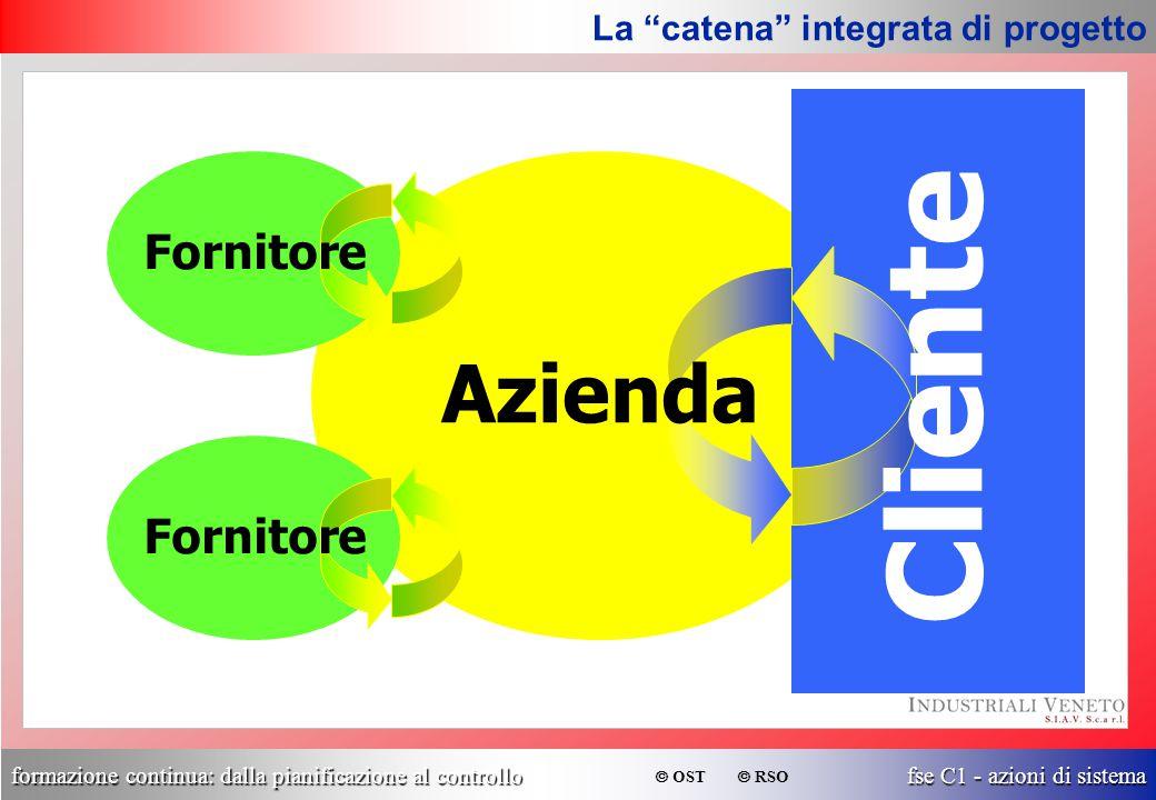 """formazione continua: dalla pianificazione al controllo fse C1 - azioni di sistema  OST  RSO La """"catena"""" integrata di progetto Azienda Cliente Fornit"""