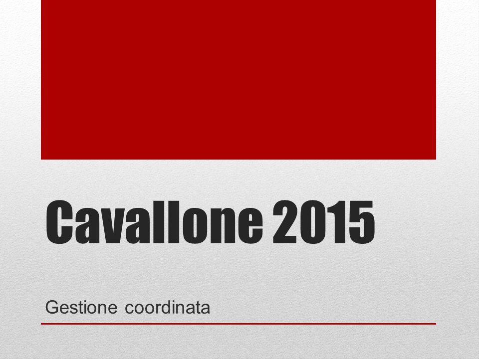 Cavallone 2015 Gestione coordinata