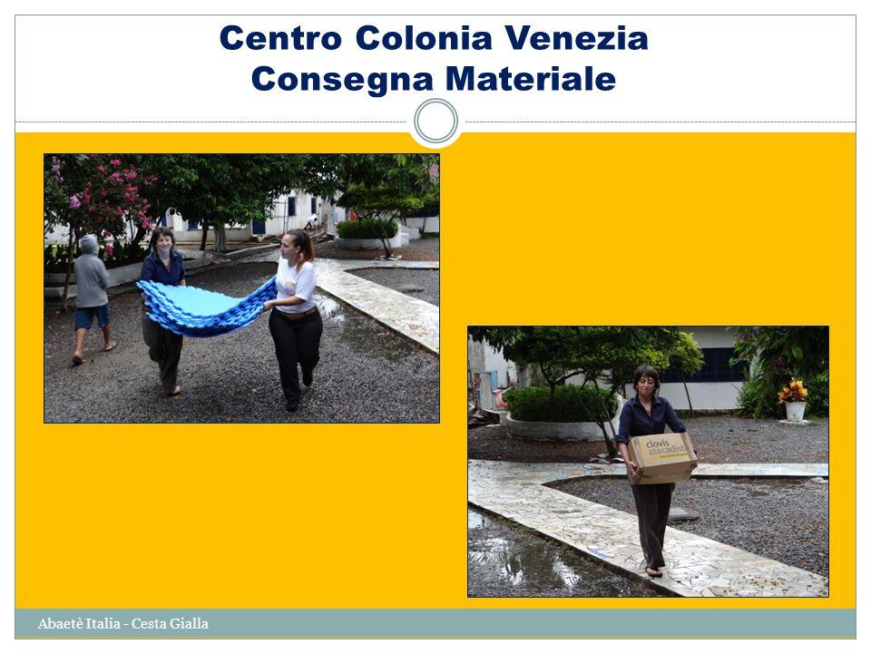 Centro Colonia Venezia Consegna Materiale Abaetè Italia - Cesta Gialla