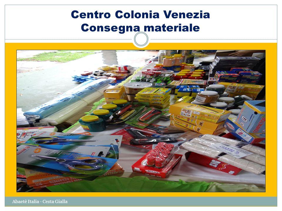 Centro Colonia Venezia Consegna materiale