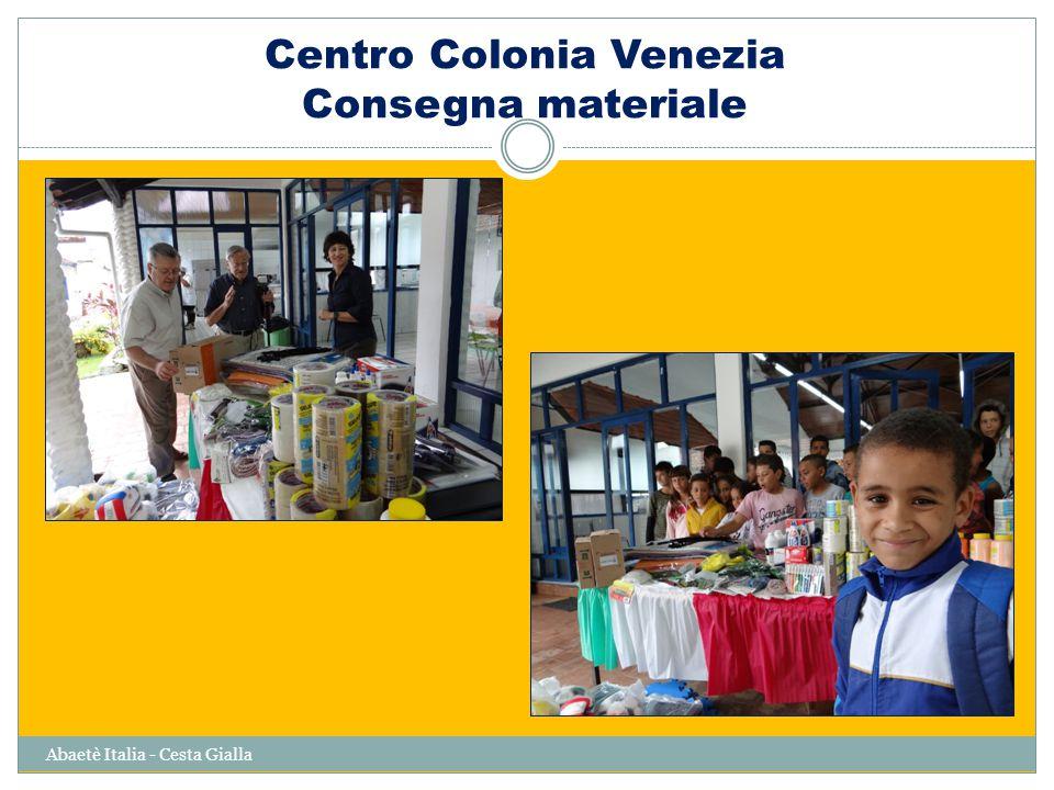 Abaetè Italia - Cesta Gialla Centro Colonia Venezia Consegna materiale