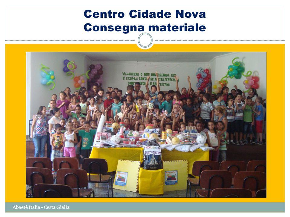 Centro Cidade Nova Consegna materiale