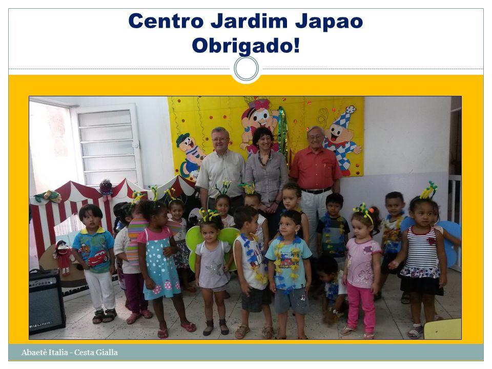 Centro Jardim Japao Obrigado! Abaetè Italia - Cesta Gialla