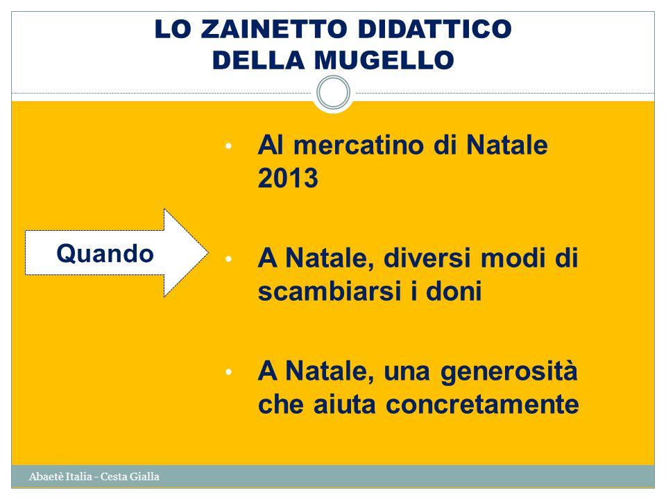 LO ZAINETTO DIDATTICO DELLA MUGELLO Abaetè Italia - Cesta Gialla