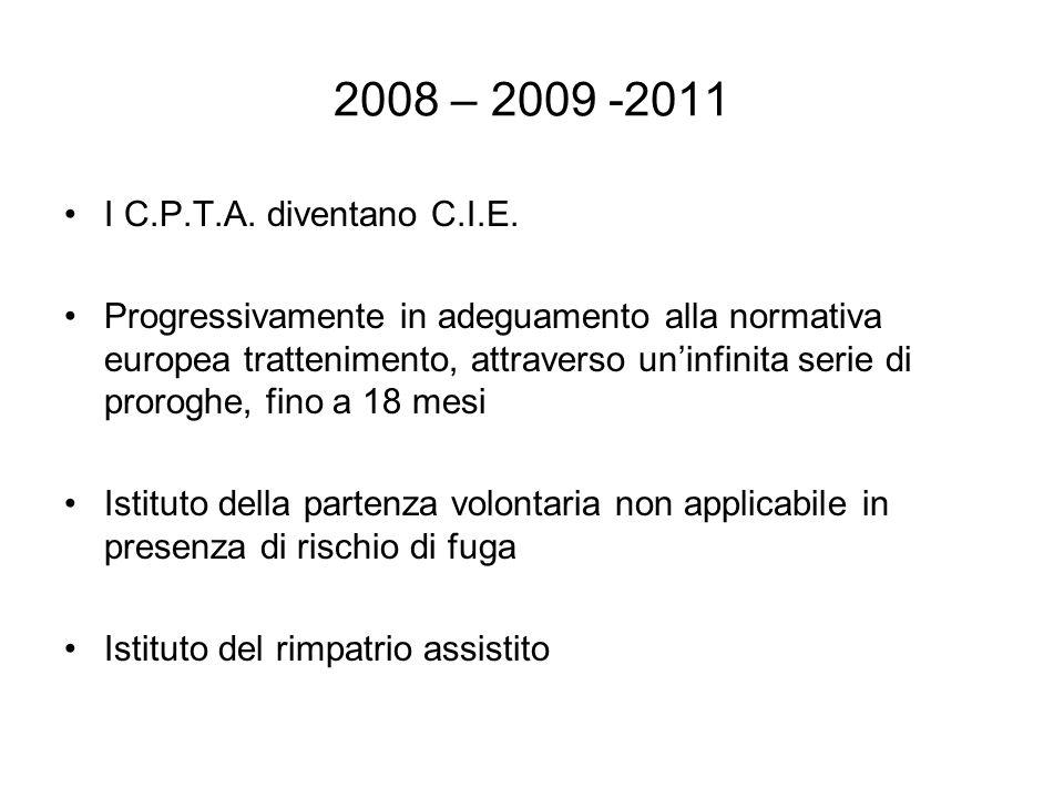 2008 – 2009 -2011 I C.P.T.A.diventano C.I.E.