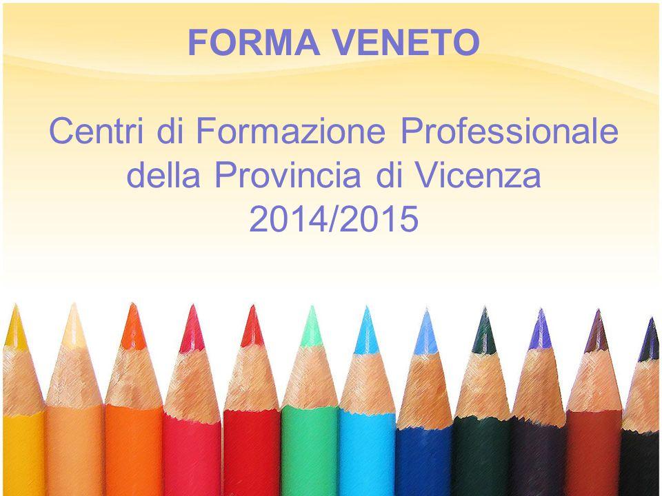 FORMA VENETO Centri di Formazione Professionale della Provincia di Vicenza 2014/2015