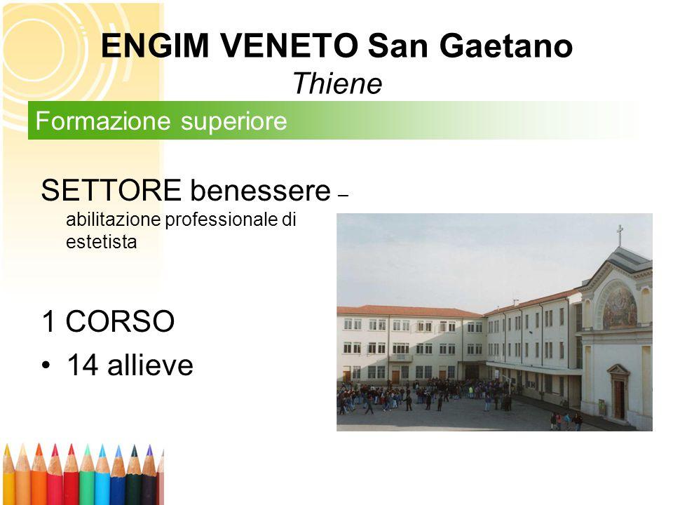 SETTORE benessere – abilitazione professionale di estetista 1 CORSO 14 allieve Formazione superiore ENGIM VENETO San Gaetano Thiene
