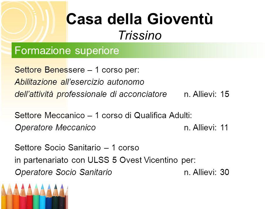Casa della Gioventù Trissino Settore Benessere – 1 corso per: Abilitazione all'esercizio autonomo dell'attività professionale di acconciatore n.