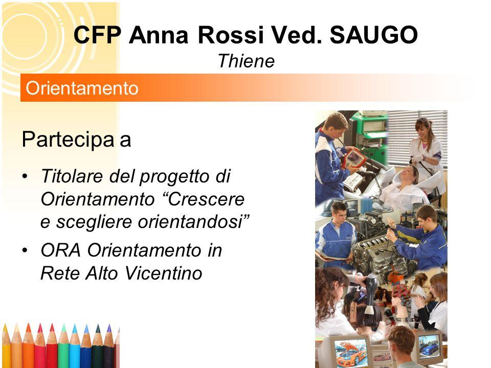 Partecipa a Titolare del progetto di Orientamento Crescere e scegliere orientandosi ORA Orientamento in Rete Alto Vicentino Orientamento CFP Anna Rossi Ved.