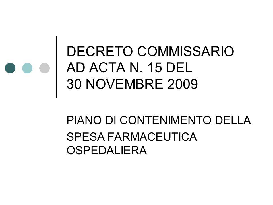 DECRETO COMMISSARIO AD ACTA N.