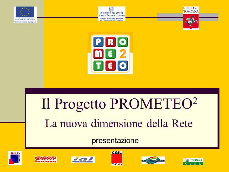 Area di Pubblico Dominio: Consente la consultazione della parte generale e di alcune informazioni relative all'attività di Prometeo 2 senza necessità di registrazione da parte dell'internauta.