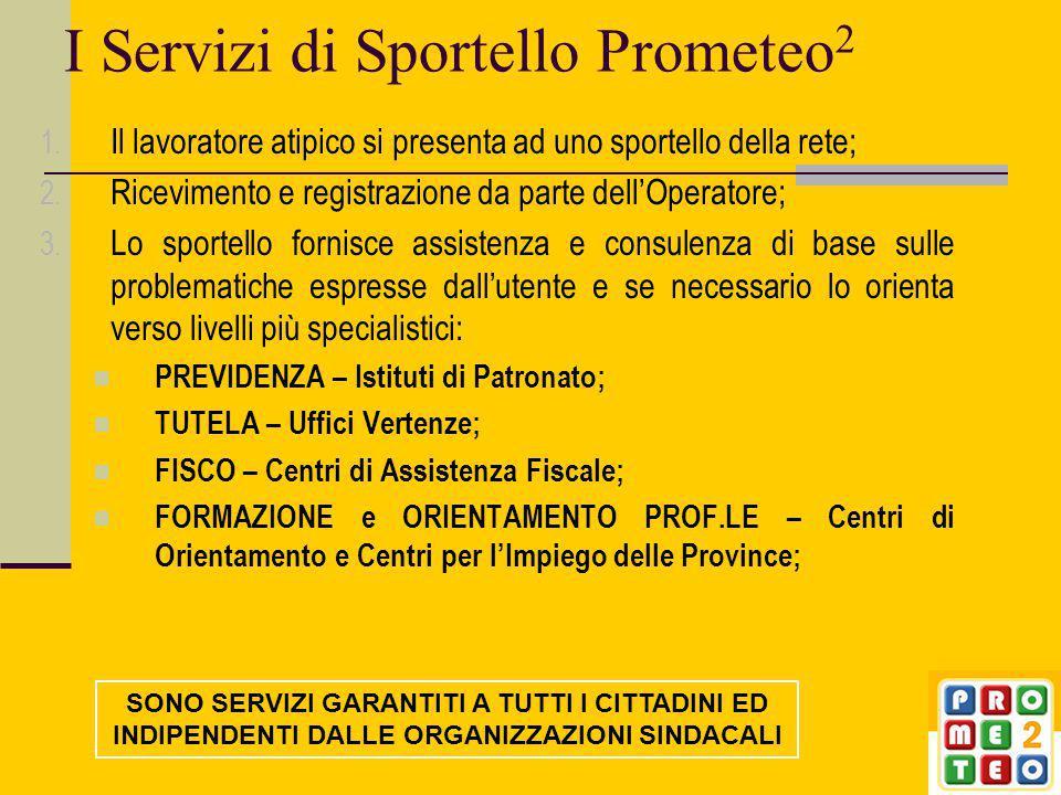 I Servizi di Sportello Prometeo 2 1.