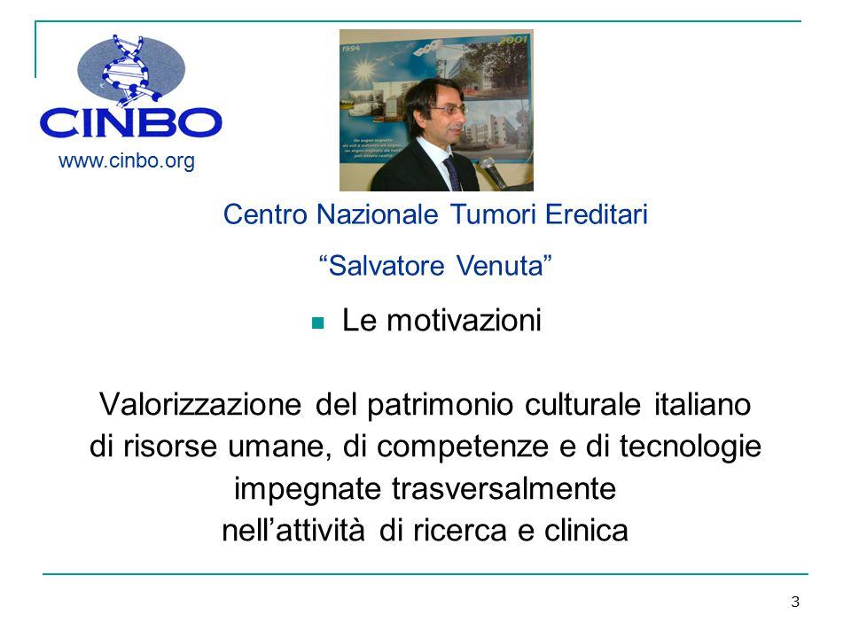 3 Le motivazioni Valorizzazione del patrimonio culturale italiano di risorse umane, di competenze e di tecnologie impegnate trasversalmente nell'attiv