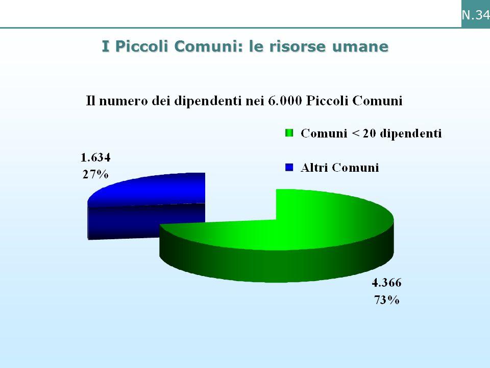N.34 I Piccoli Comuni: le risorse umane